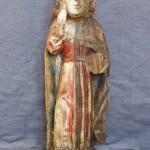 Bautzner Heiligenfigur während der Reinigung