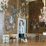 Goldledertapeten des Monströsensaales, Schloss Moritzburg