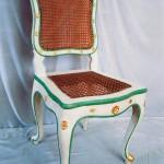 Barocke Farbfassung  auf Stühlen für das Fasanenschlösschen Moritzburg